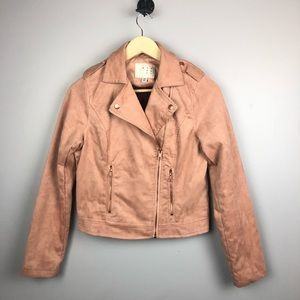 A New Day Faux Suede Moro Jacket Coat Size XS
